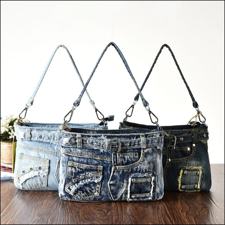 New 2015 Retro Fashion Diamonds Vintage Women Denim Bag Jeans Shoulder Bags Girls Handbags Crossbody Bag Women's Messenger Bags