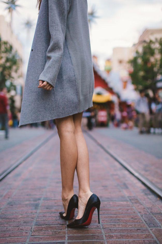 ☺ vince coat + christian louboutin models