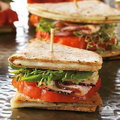 Quesadillas as bread in a sandwich