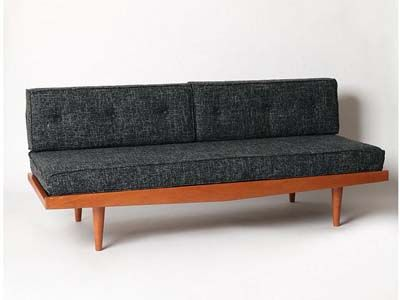 Mid Century Sofa Black Fleck From Urbanouters For The Bright Antenna Office Lounge