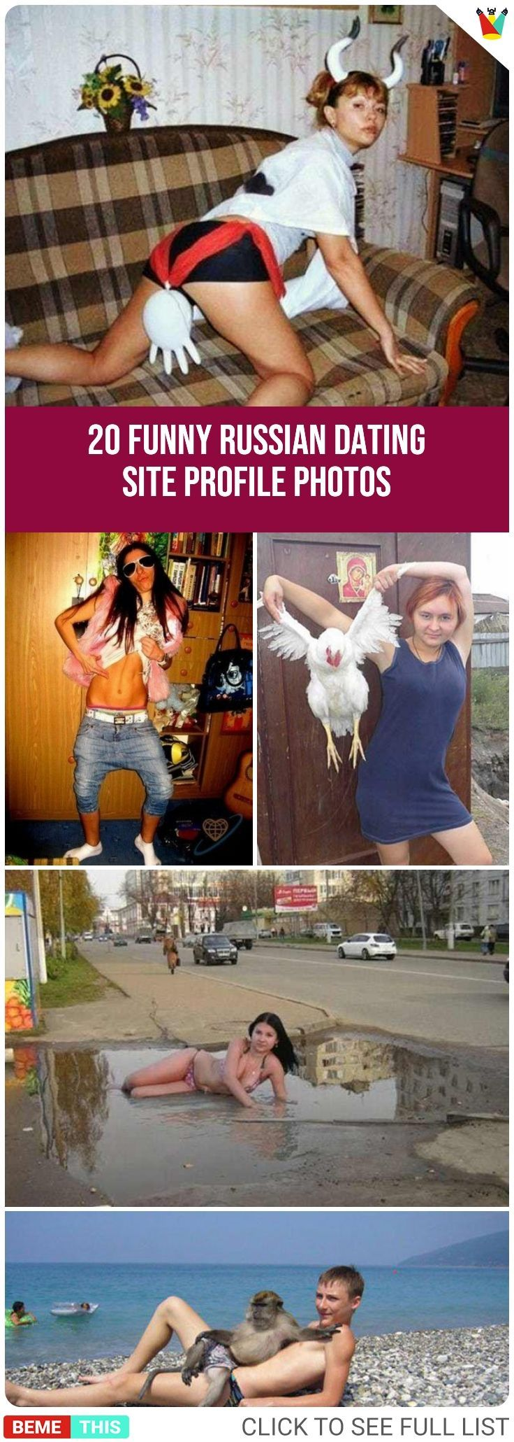 funny russian dating profile pics A handpicked collection of hilarious pictures updated daily.