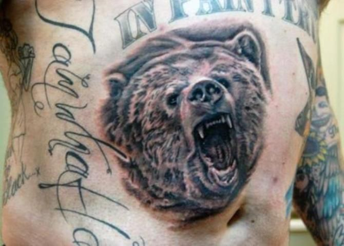 27 Grizzly Bear Head Tattoo