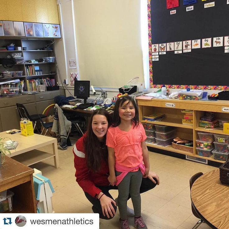 @wesmenathletics Women's Basketball player Taylor Thorkelsson made a new friend today at Brooklands School.