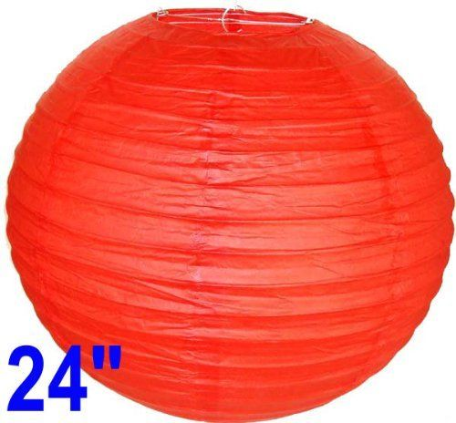 """Red Chinese/Japanese Paper Lantern/Lamp 24"""" Diameter - Just Artifacts Brand by Just Artifacts. $3.75. Great for party and home decoration. Check Just Artifacts products for more available colors/sizes."""
