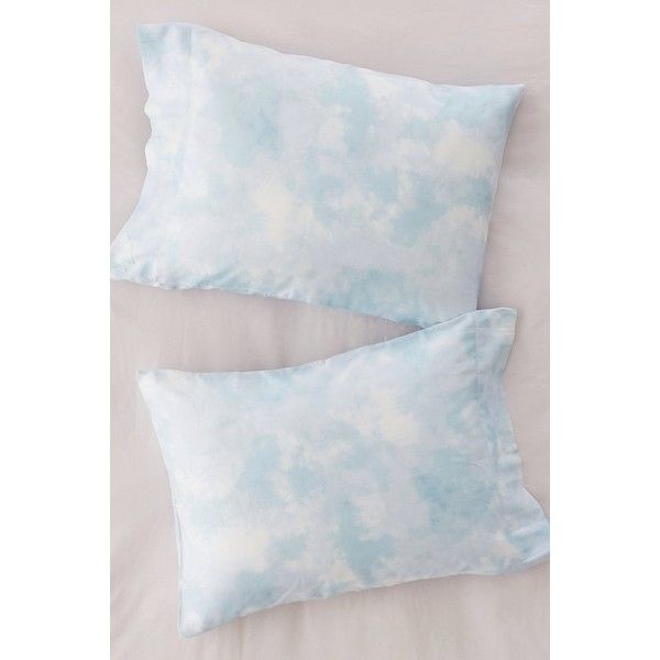 Subtle Tie-Dye Pillowcase Set ($29) ❤ liked on Polyvore featuring home, bed & bath, bedding, bed sheets, cloud bedding, tie dye bedding, tie dyed bedding, tie-dye bedding and neutral bedding