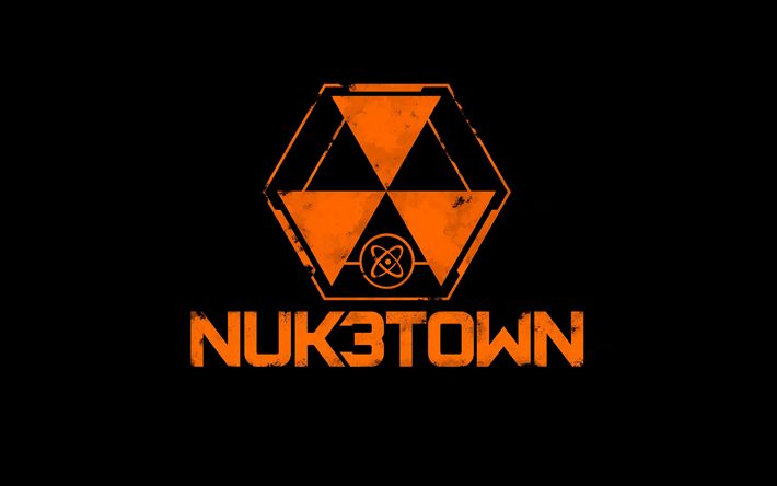 Download Wallpapers Nuketown 4k Logo Call Of Duty Cod Besthqwallpapers Com Call Of Duty Black Ops 3 Call Of Duty Black Call Of Duty Zombies