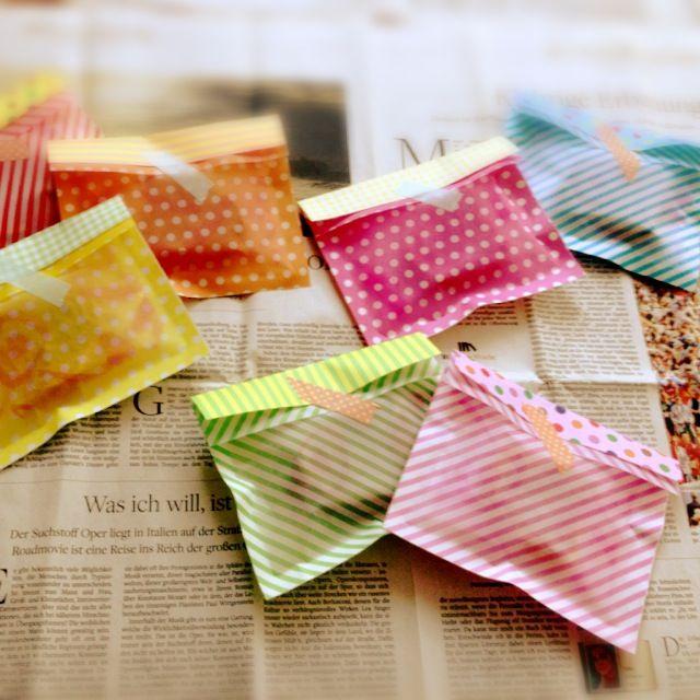 簡単ラッピング! 100均折り紙で透け感のある封筒の作り方|ラッピング|紙小物・ラッピング|ハンドメイド・手芸レシピならアトリエ