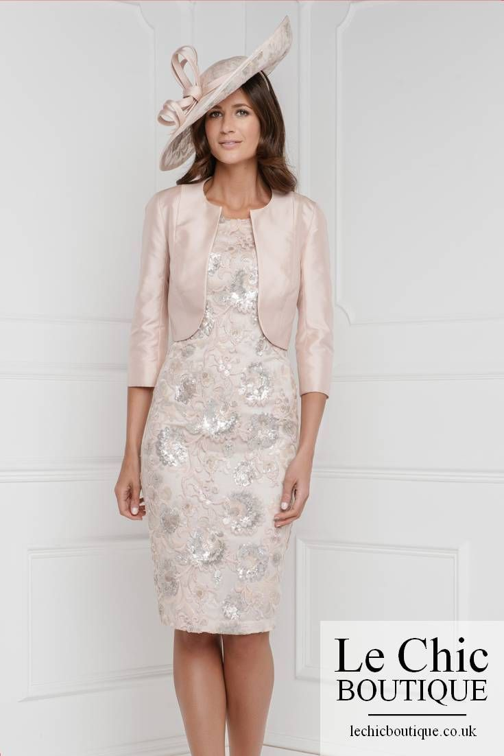 ..John Charles, style 26151, Embellished sequin knee-length dress with luxe taffeta crop jacket,Size08,Size10,Size12,Size14,Size16,Size18,Size20 while stocks last