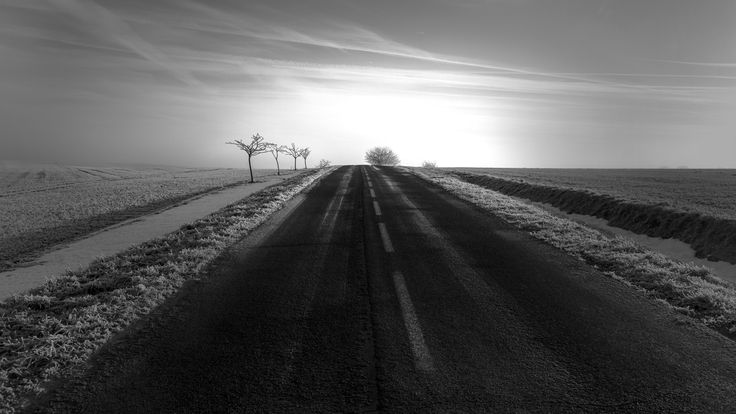 Alone on the frozen road by Olivier Ferrari on 500px