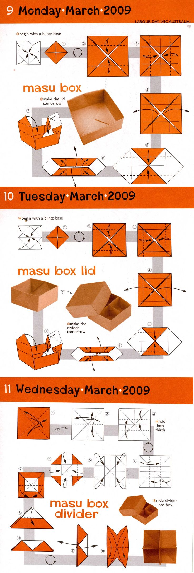 ❤(◕‿◕✿)                                                   DIY Simple Masu Box with lid and divider.