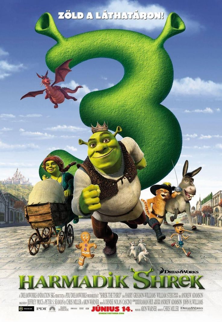 Shrek The Third Full Movie Itunes Peliculas De Animacion Shrek Tercero Personajes De Shrek