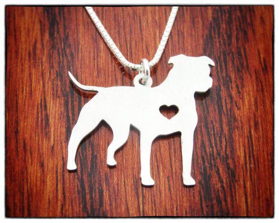 VENTA Pitbull collar plata joyería perro del por InfinityGift