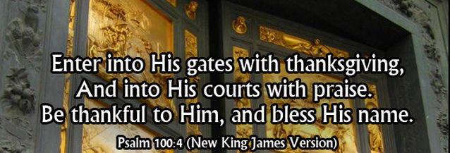 Image result for psalm 100:4 kjv