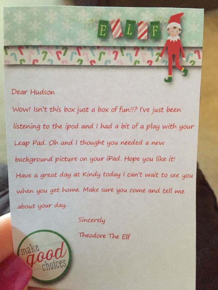 Every morning Theodore leaves a little letter to my son on his own personalised stationery... #elfontheshelf