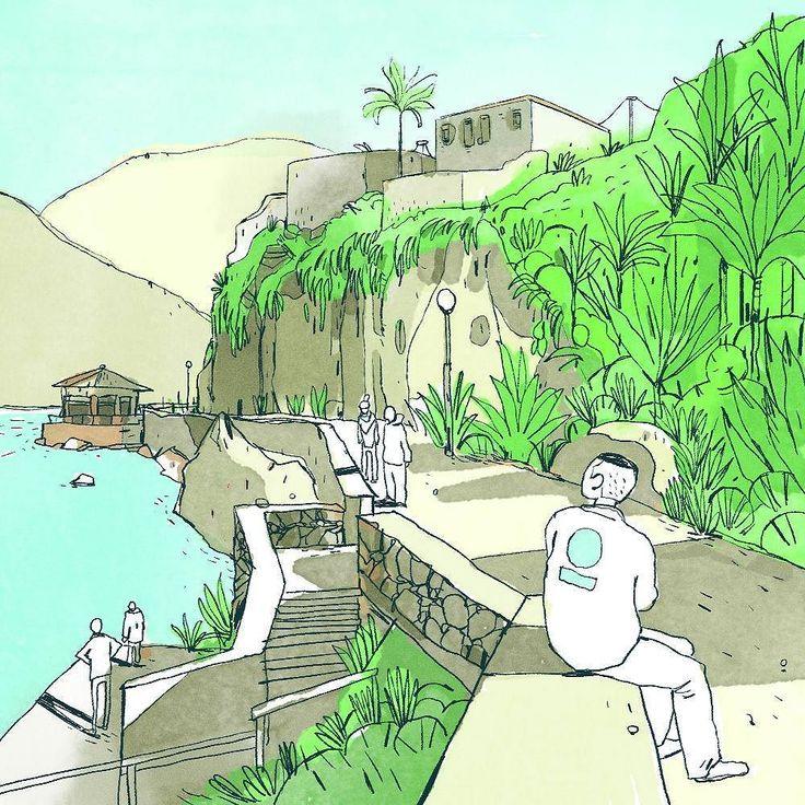 #virtualpleinair  ___ #greek slants #island #illustration #art #artist #instaart #dailyart #artoftheday #doodleartist #pen #pencil #drawing #drawings #sketch #scribble #picoftheday #sketchbook #doodle #kunst #dessin #dibujo #newartwork #instadaily