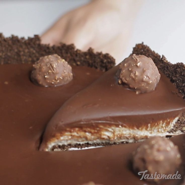 Indulge your sweet tooth with this layered chocolate hazelnut dessert.