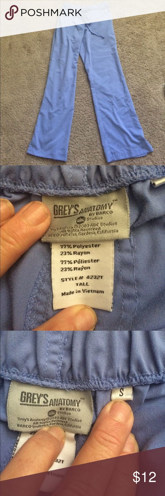 Gray's anatomy size small tall scrub pants Grey's Anatomy size small tall scrub pants see all my other scrubs would love to bundle and save you money grey's Anatomy Pants
