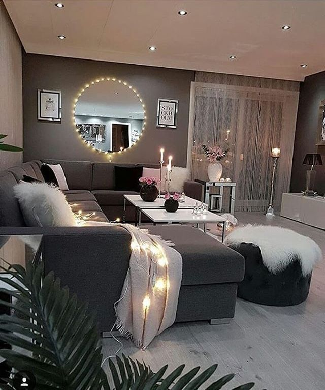 Pinterest @Yung_tiff🎀 | Cozy apartment decor, Living room ...