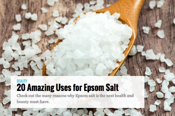 SLIDESHOW: 20 Amazing Uses for Epsom Salt