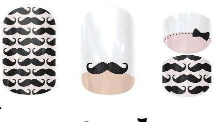 I Mustache you a question? Tried Jamberry Nails yet?  The DIY Trendy Manicure!!  http://instanails.jamberrynails.net