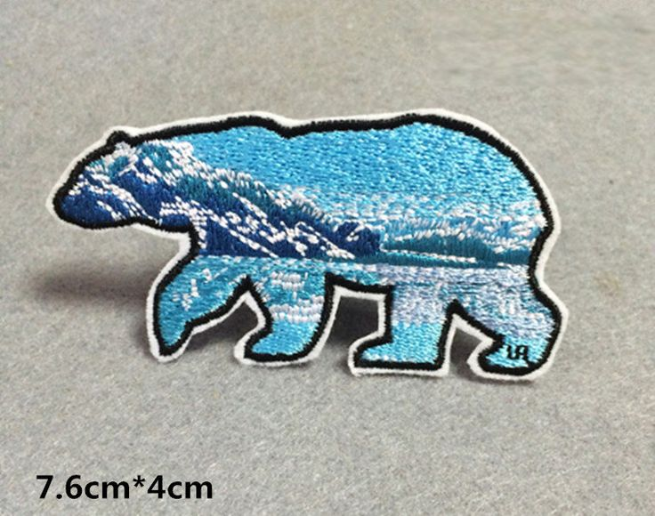 New to craftapplique on Etsy: polar bear patch animal embroidered patch iron on patches iron on patch sew on patch (3.50 USD)
