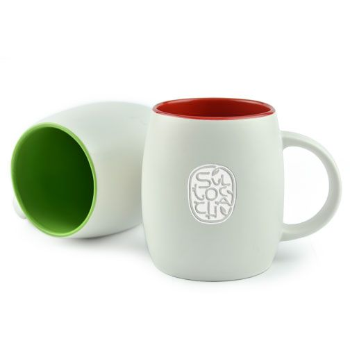 The Pearl Mug -Tone on tone deep etch Capacity of 16oz/480ml. Hand wash only. Price includes laser engraving.| rushIMPRINT.com