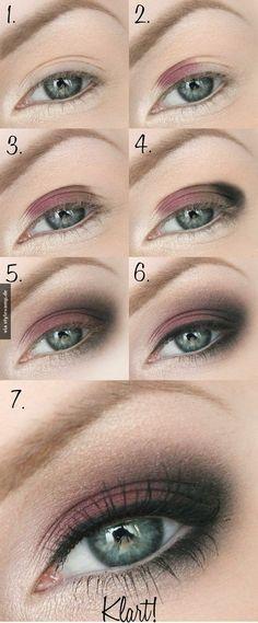 Beeindruckendes Augenmake-up