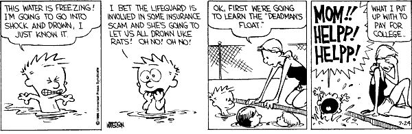 Oooh, Lifegaurd I feel you, but Calvin I understand to you ...