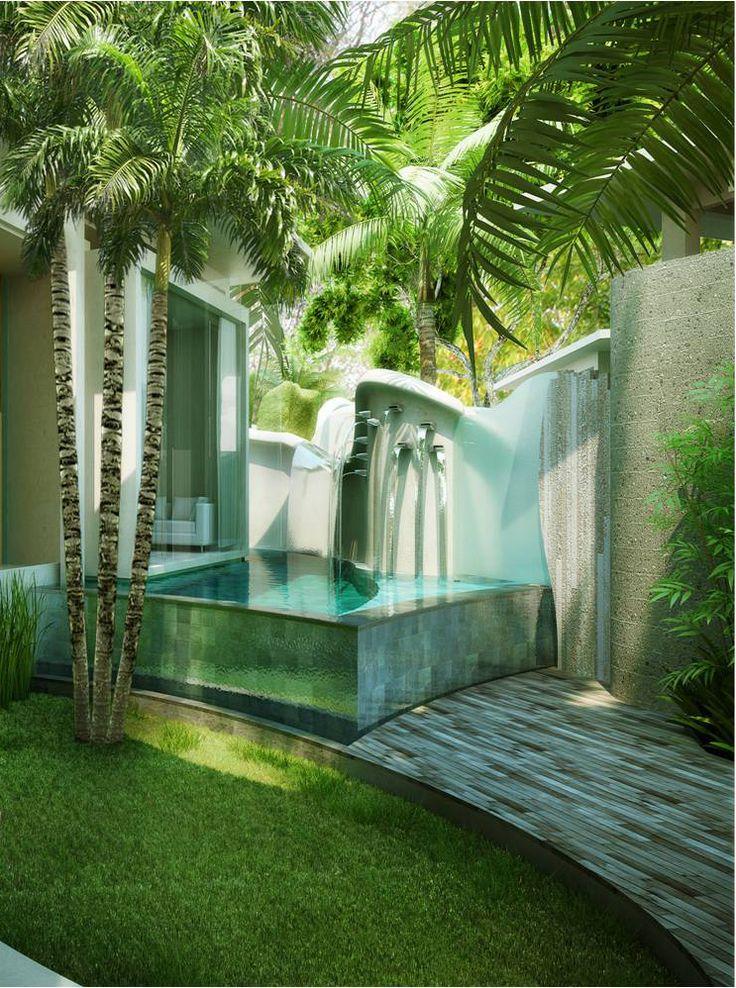 #piscina #terraza #palmeras #tropical