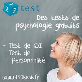 Ce test de personnalité détermine vos forces et vos talents. Basé sur la théorie des cinq grands facteurs de personnalité (ou Big Five), ce test en ligne est le plus fiable du genre http://www.123test.fr/test-de-personnalite