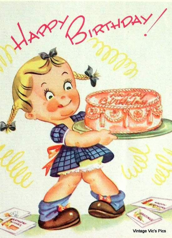 1259 best images about Old cards – Vintage Birthday Cards