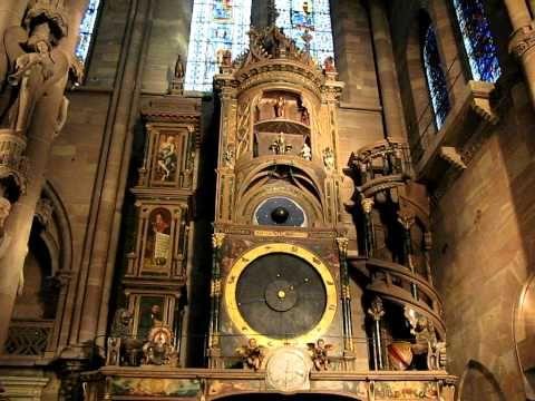 ▶ Астрономические часы, Страсбург - YouTube