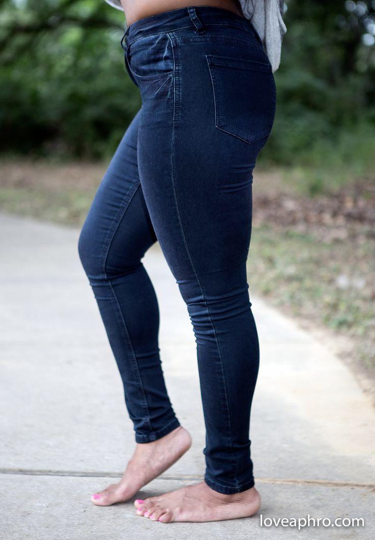 The Best Skinny Jean Ever in Dark Blue