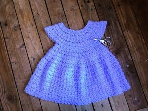 Crochet : Robe toutes tailles facile 2 / Dress crochet easy all sizes 2 - YouTube