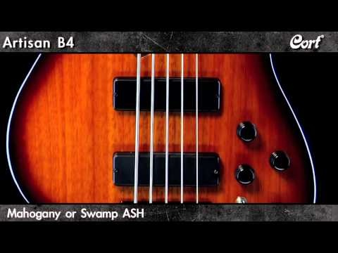 Cort Artisan B4 Bass Guitar with Bartolini Pickups
