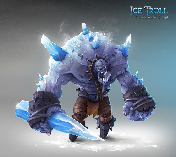 ArtStation - Ice troll, Tadas Adomavicius