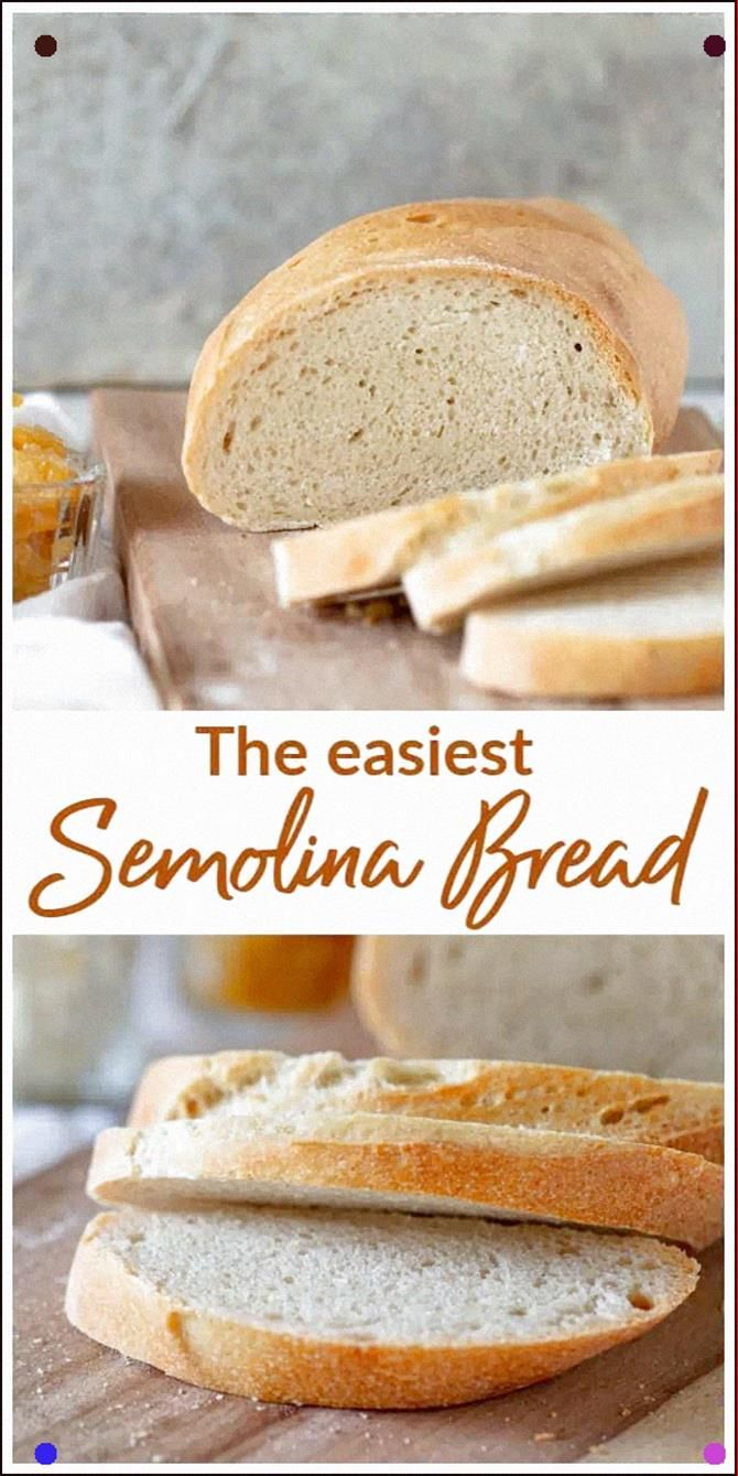 A Gorgeous Golden Loaf Of Semolina Bread Or Italian Bread It S Made With Regular Wheat Flour And Durum Flo Semolina Bread Recipe Recipes Banana Bread Recipes