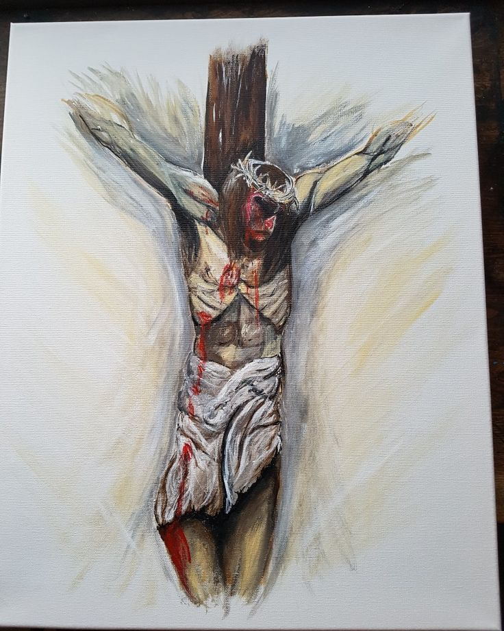jesus christ cross  acrylicpainting