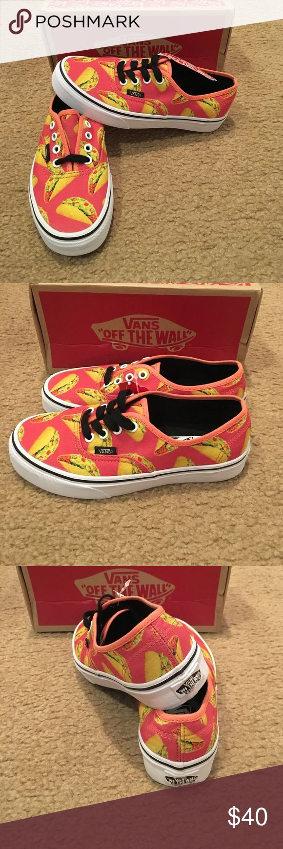 Vans Authentic Late Night Tacos New in box. Coral Vans Shoes Sneakers
