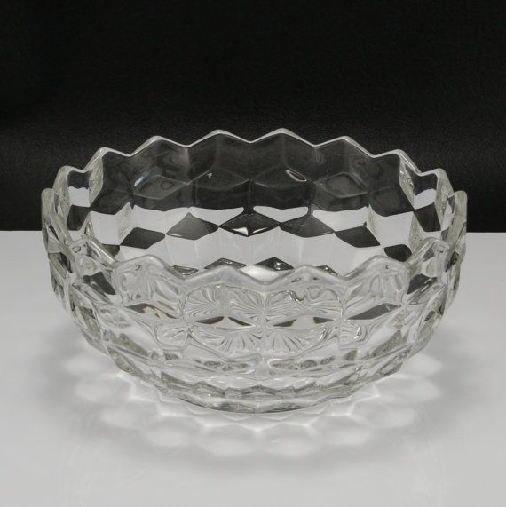 Fostoria American Glass 7 inch Bowl Vtg by charmings on Etsy, $18.00