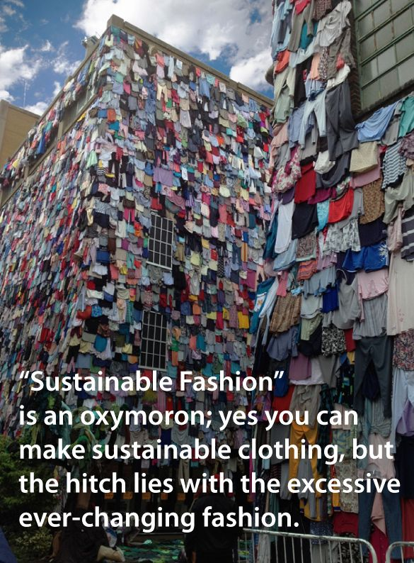 True sustainability -social and ecological- in fashion cannot be achieved without slowing down the continuous changing of trends. Promote slow fashion and choose long-lasting designs. #fashiontakesaction