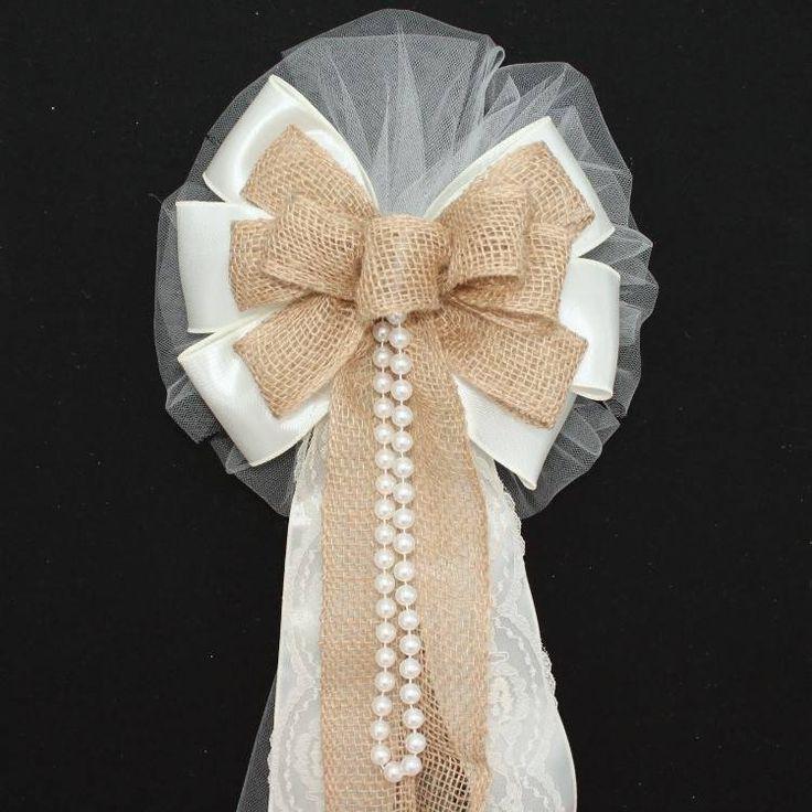 pew bows for wedding diy - Google Search