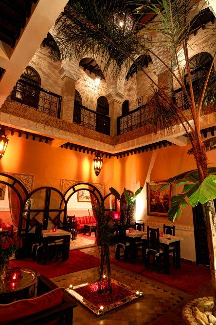 Ambiance Patio presso l'accogliente Riad Marrakech - Marocco Jona Fusion