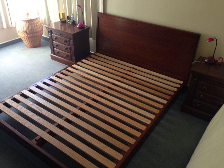 Oak slat bed