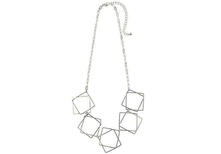 AlibiOnline - CNM443 - Necklace In Silver With Fine Square Shapes by MAJIQUE, $29.95 (http://www.alibionline.com.au/cnm443-necklace-in-silver-with-fine-square-shapes-by-majique/)