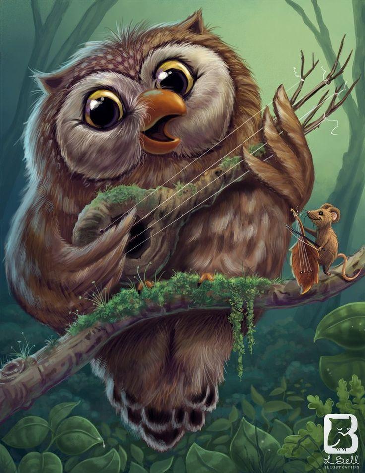 веселые картинки с совами сайт