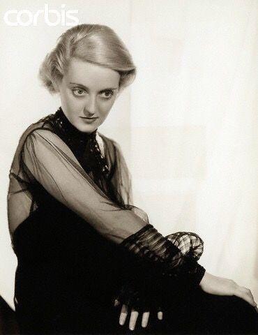 Bette Davis, love her facial expression.