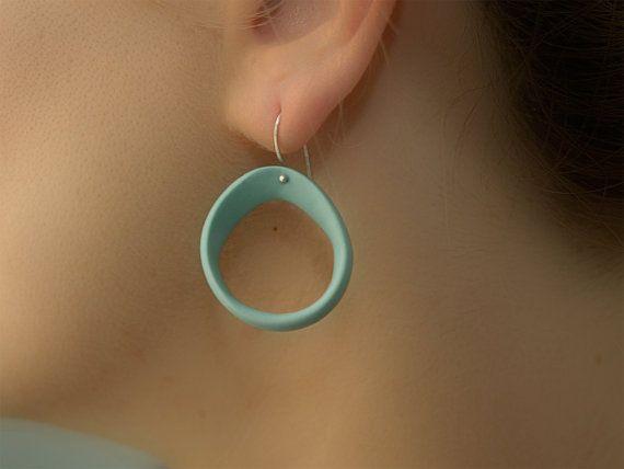 Elegante porcellana turchese orecchini con gioielli di MaaPstudio