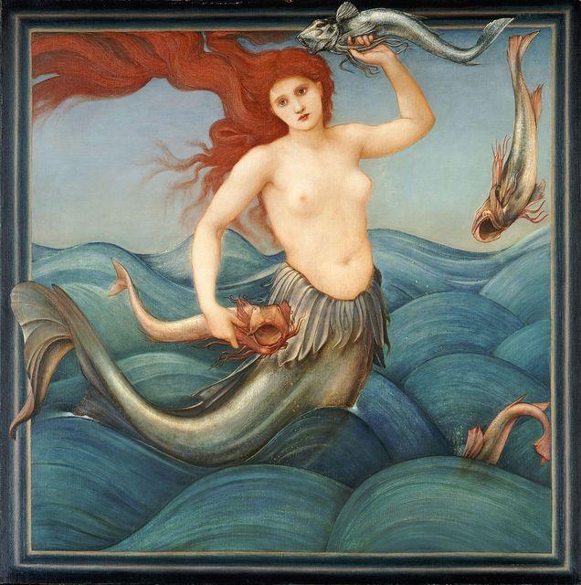 "Edward Coley Burne-Jones (British, 1833-1898), ""A Sea Nymph"", 1881   Flickr - Photo Sharing!"