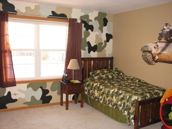 Camo boys room ideas bing images kids stuff for Camouflage boys bedroom ideas